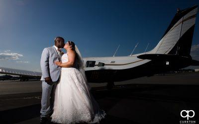Glassy Chapel Ceremony – Runway Cafe Hangar Reception – Greenville,SC – Jennifer + Hulon