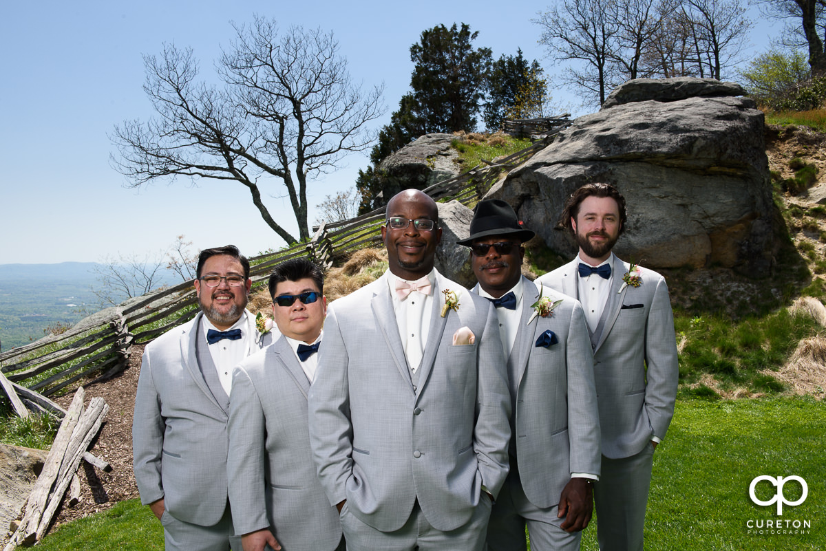Groomsmen after the ceremony.