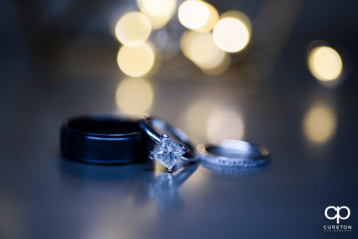 Bride's rings.