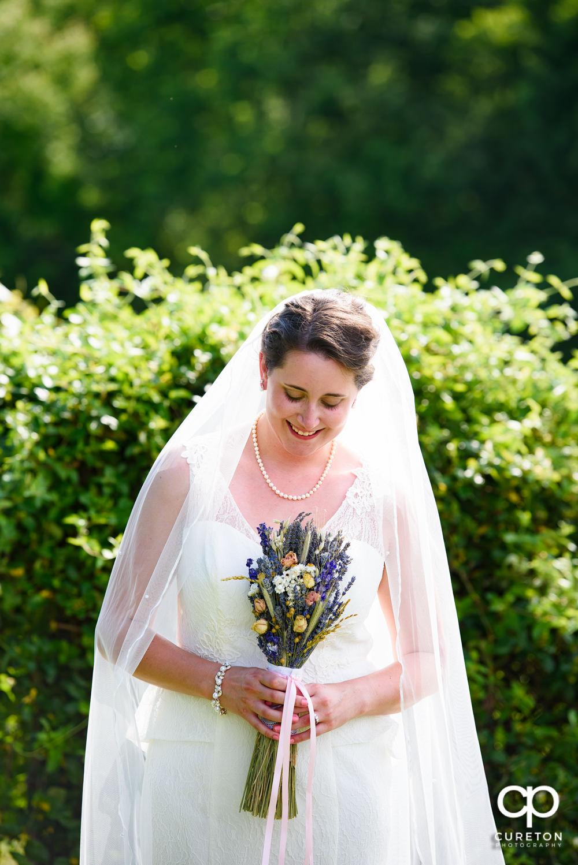 Bride at Greenbrier Farms.