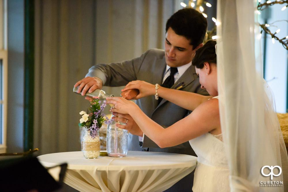 Greenbrier Farms indoor wedding ceremony.