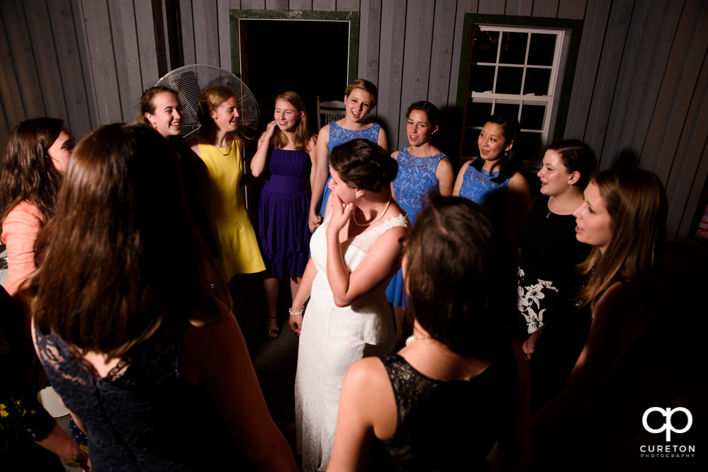 Bride's sorority singing to her at her wedding.