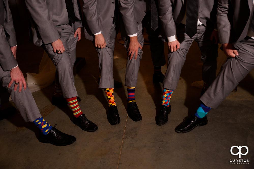 Groom and groomsmen's socks.