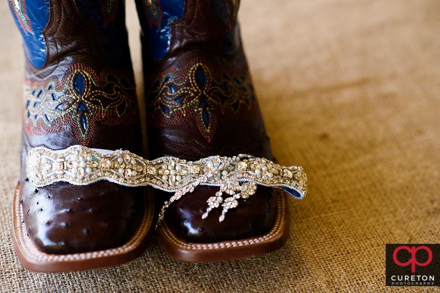 Bride's boots.