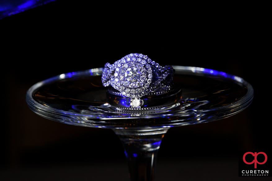 Epic wedding ring photo.