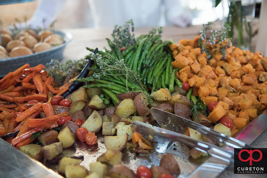 Food at the reception.