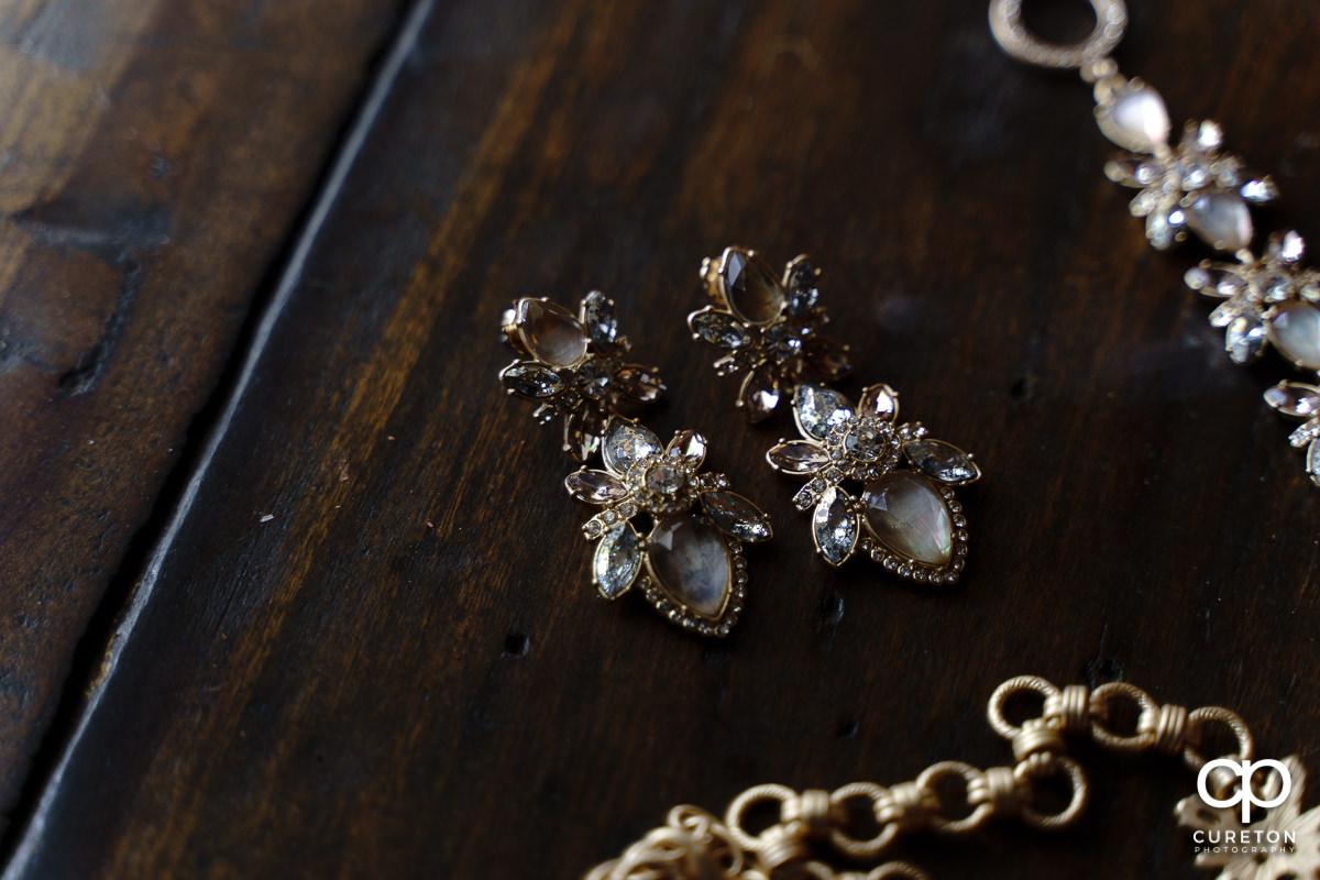 Bride's earrings.
