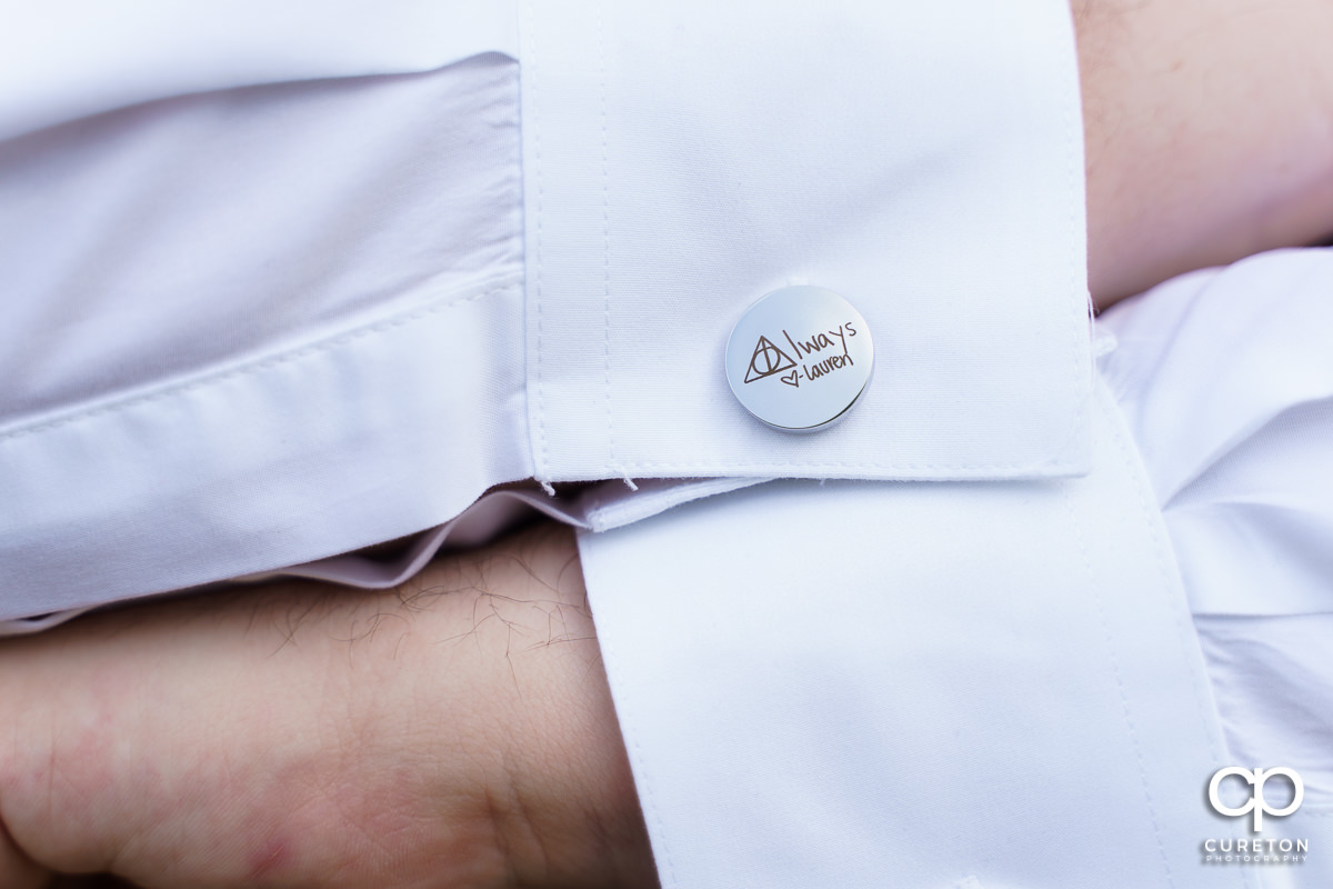 Groom's cufflinks.