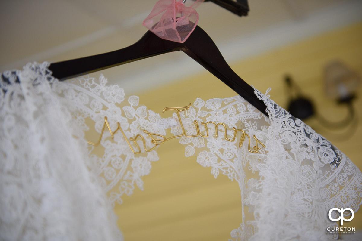 Custom bride hanger.