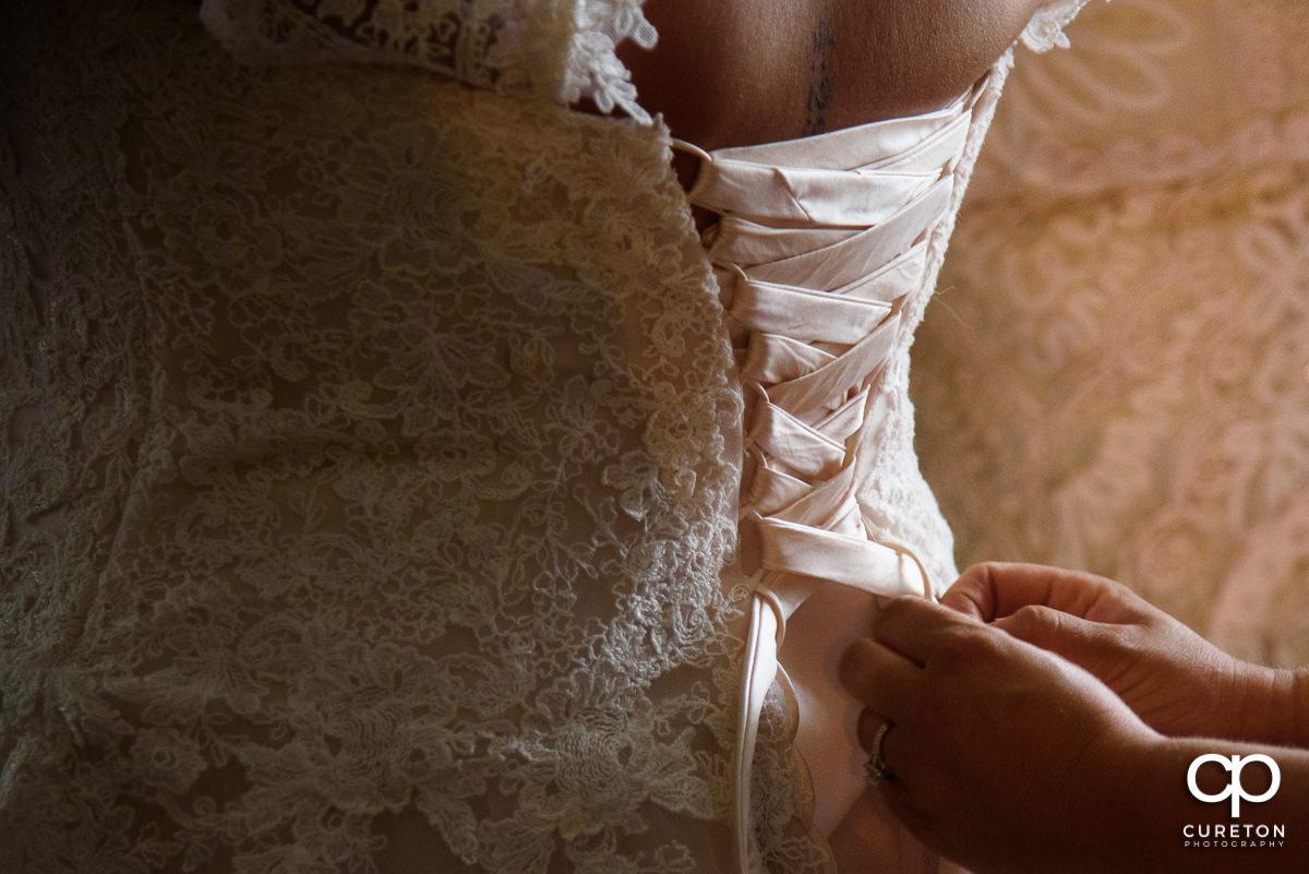 Bride's dress corset.
