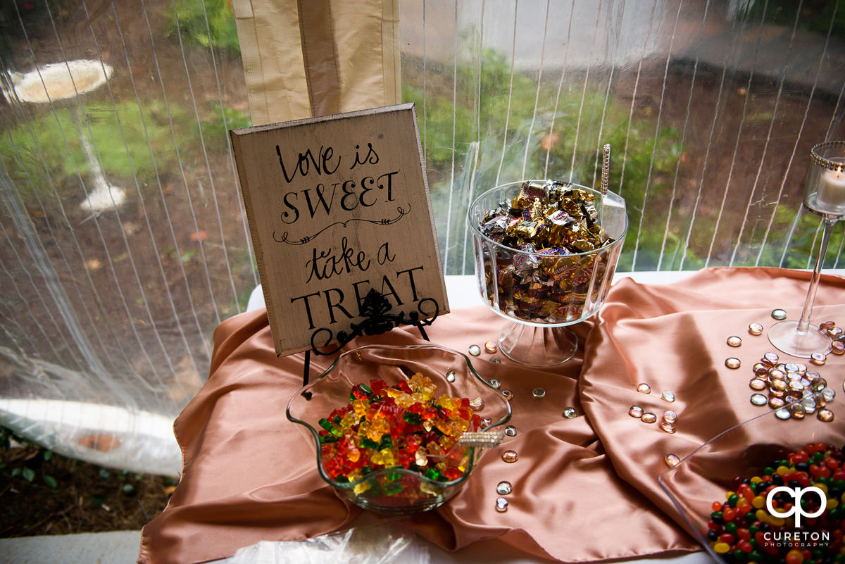 Treats at the wedding reception.