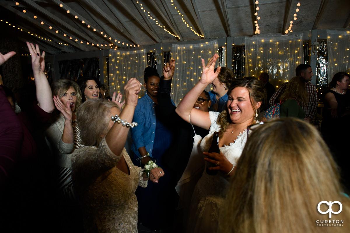 Bride dancing at the reception.