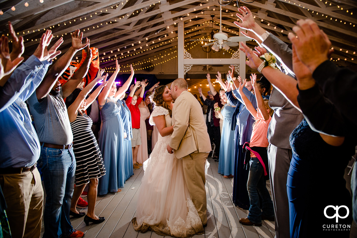 Wedding exit at The Grove at Pennington.