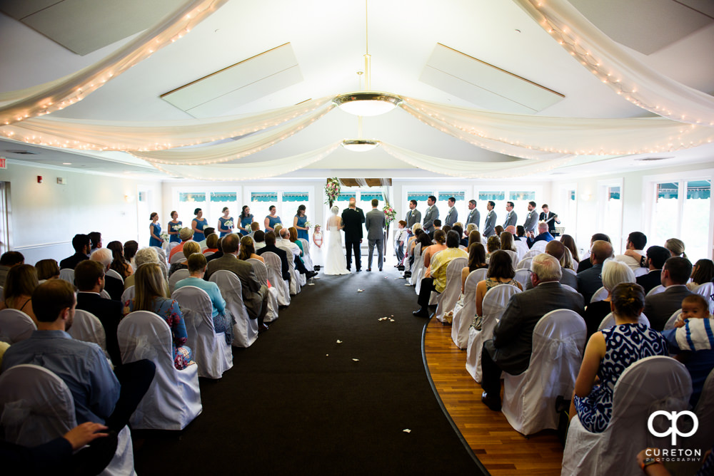 Wedding Ceremony At Holly Tree Country Club Inside