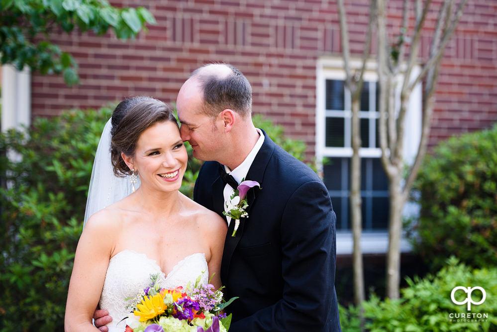 Bride and Groom at Mauldin United Methodist Church.