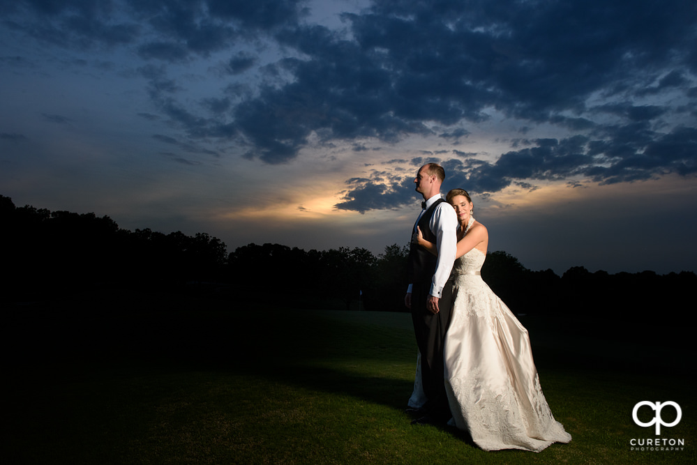 Bride and Groom at Holly Tree Country Club.