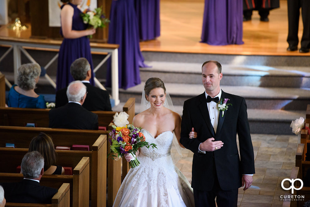 Mauldin United Methodist wedding ceremony.