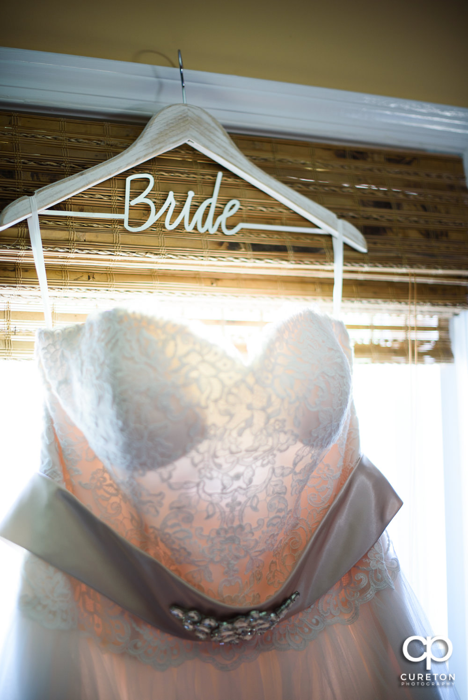 Custom bride dress hanger.