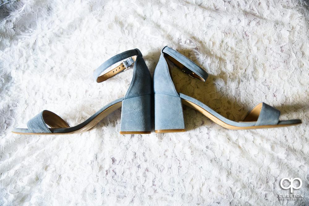 The bride's shoes.