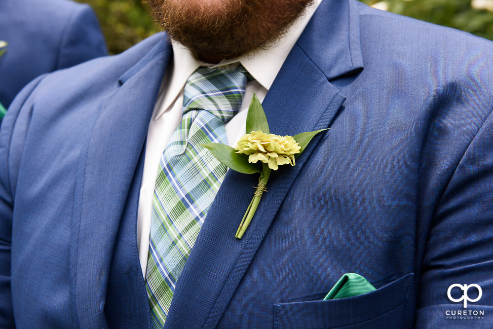 The groom's boutonniere.