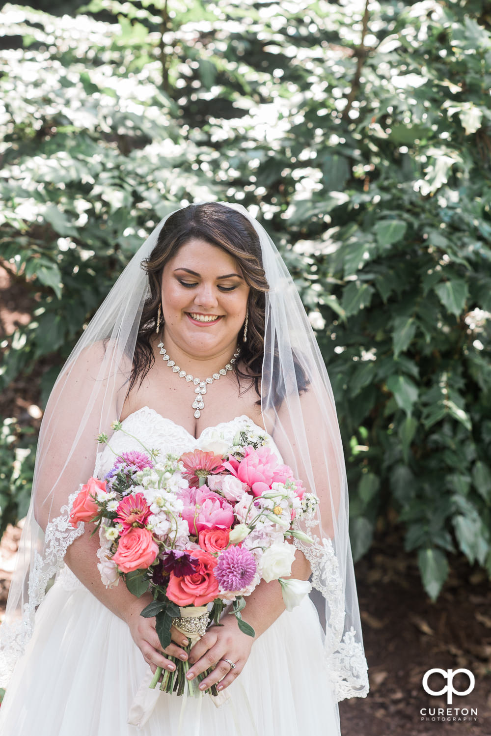 Bride with an amazing bouquet.