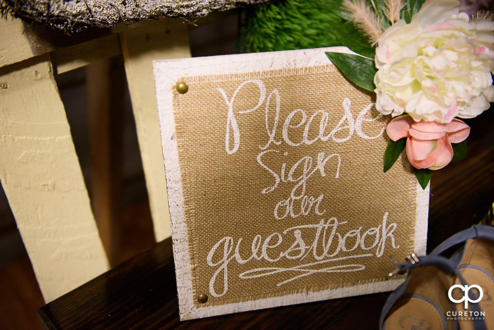 Guestbook sign.