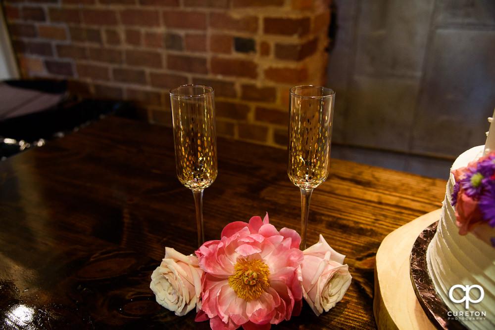 Champagne flutes.