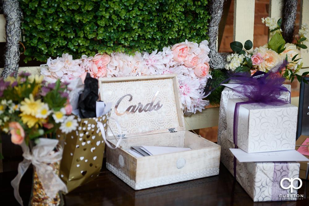 Wedding gift table.
