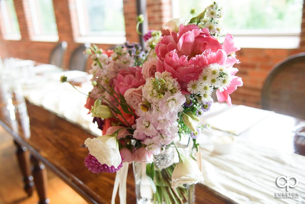 Bridesmaids' flowers.