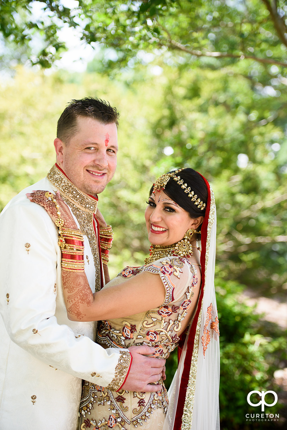 Indian bride and American groom.