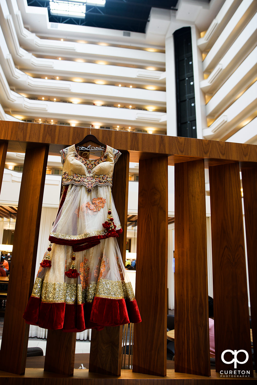 Indian wedding dress details.