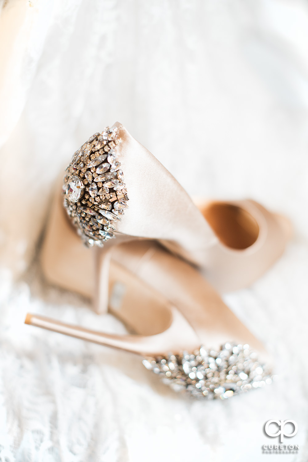 Bries shoes with bling.