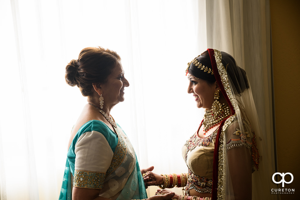 Indian bride and mother.