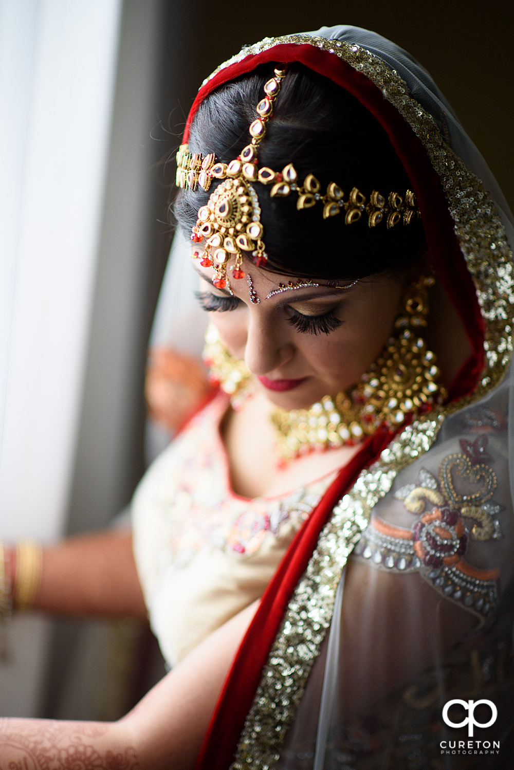 Indian Bride in Greenville SC before her wedding.