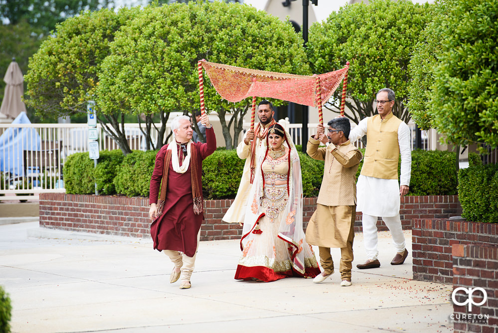 Indian wedding ceremony at Embassy Suites hotel in Greenville SC.