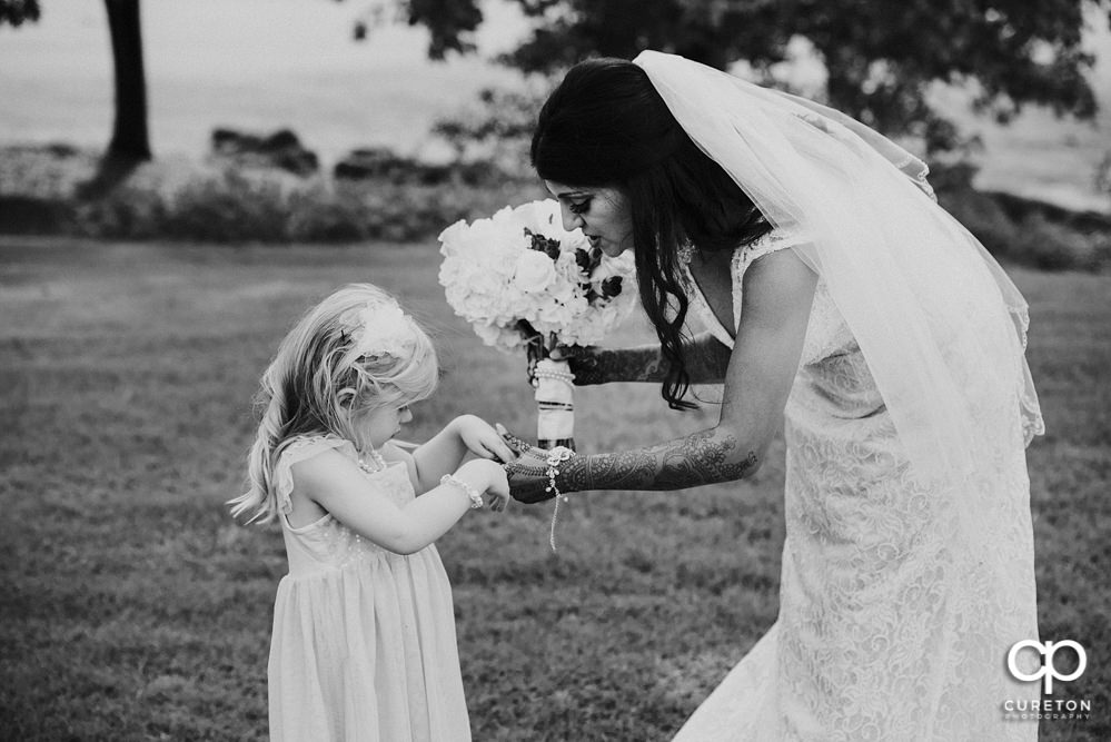 Flower girl and bride.