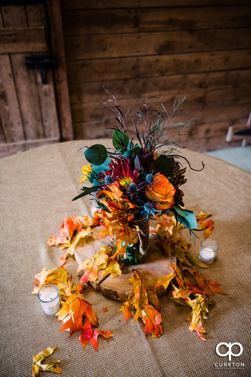 Fall wedding table scape.