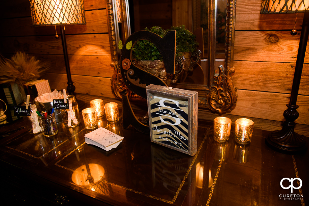 Wedding details and decor.
