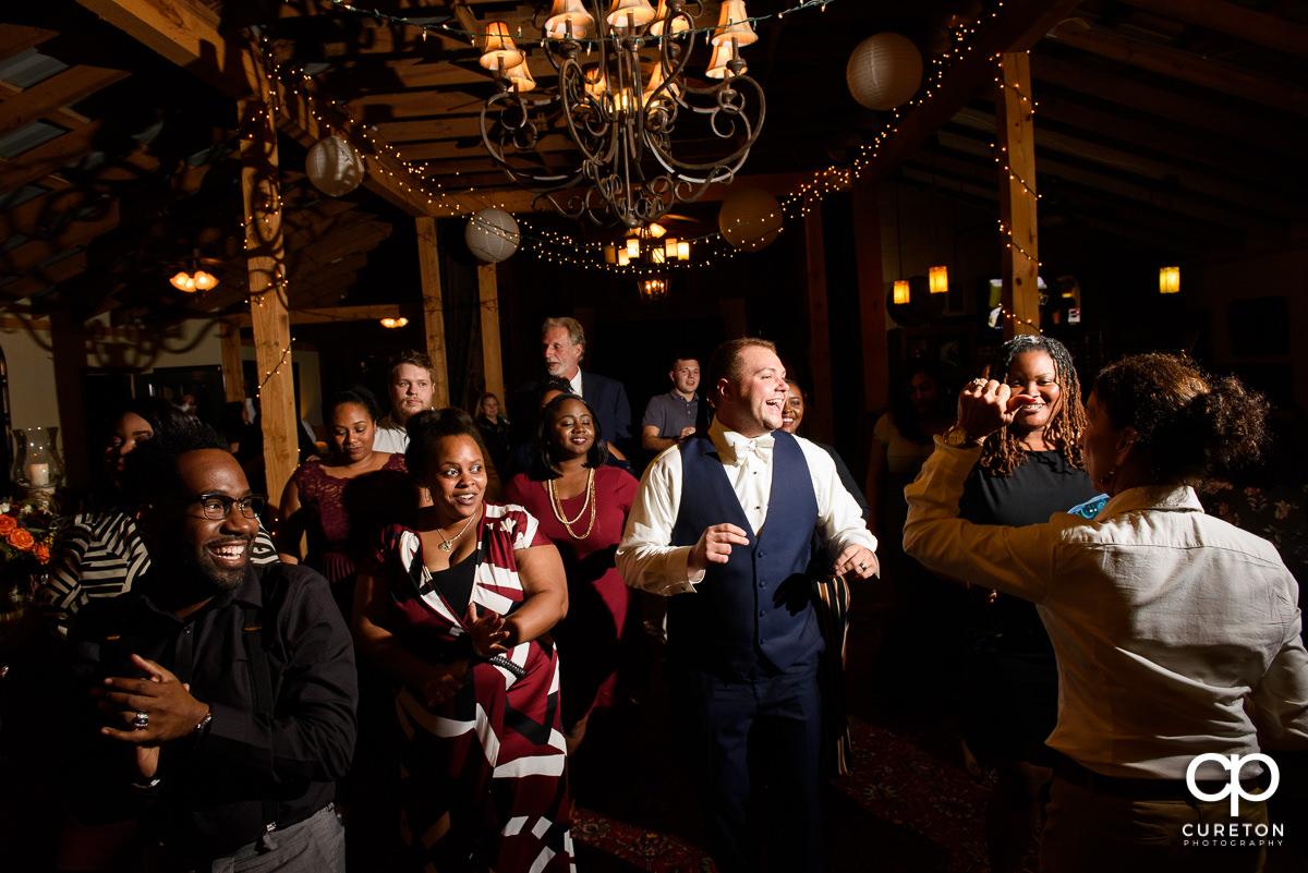 Guests dancing at Lindsey Plantation.