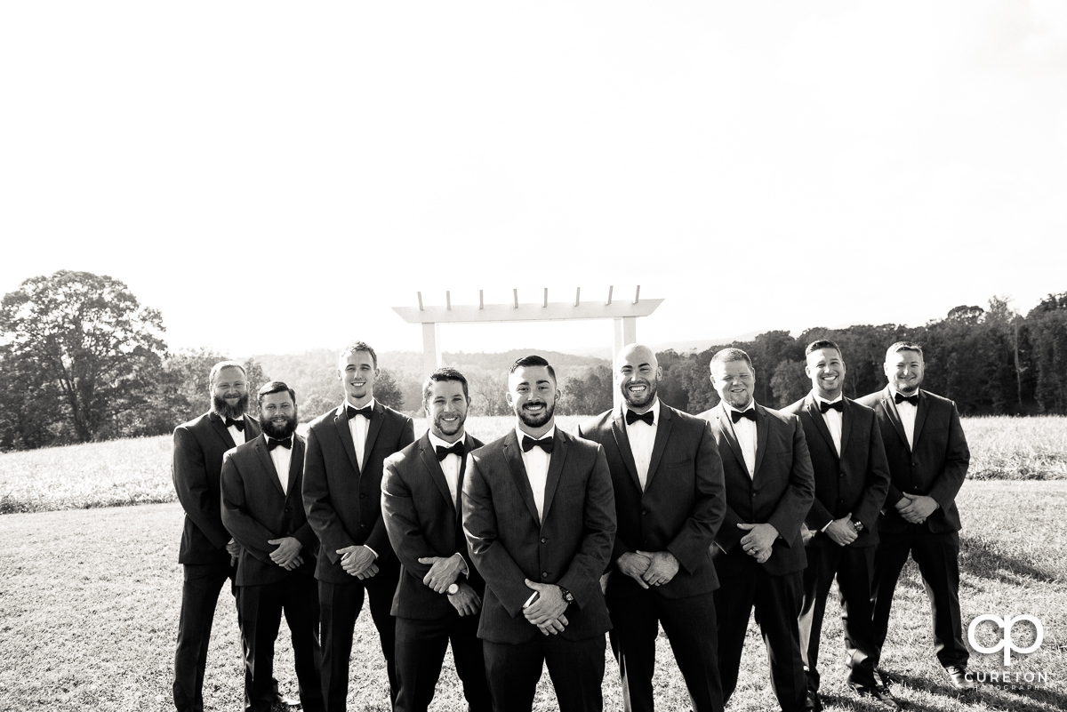 Groomsmen at Lindsey Plantation.