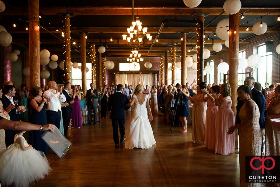Bride And Groom S Grand Entrance: Mitchell Road Presbyterian Church Wedding