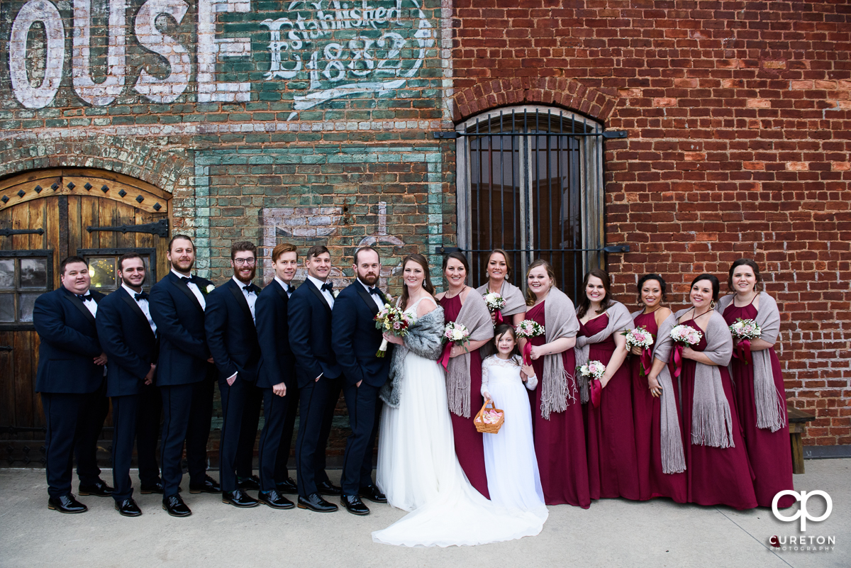 Wedding party outside of the old cigar warehouse.