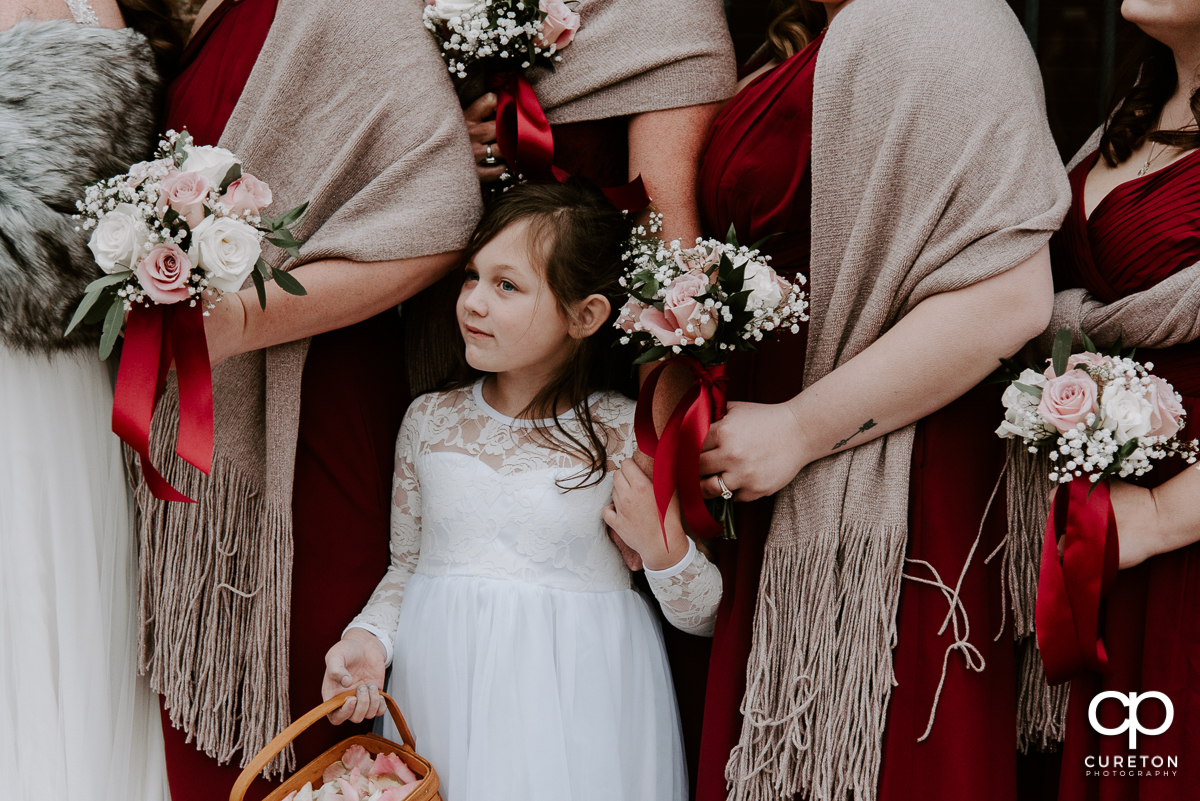 Bohemian looking flower girl.