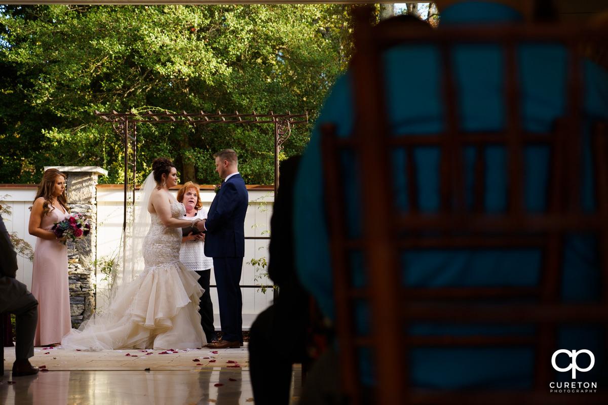 Noah's Event Venue in Mauldin,SC wedding ceremony.