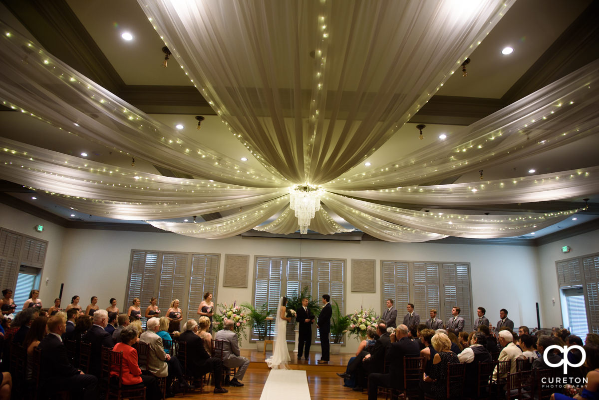 Noah's Event Venue in Mauldin setup for a wedding ceremony.