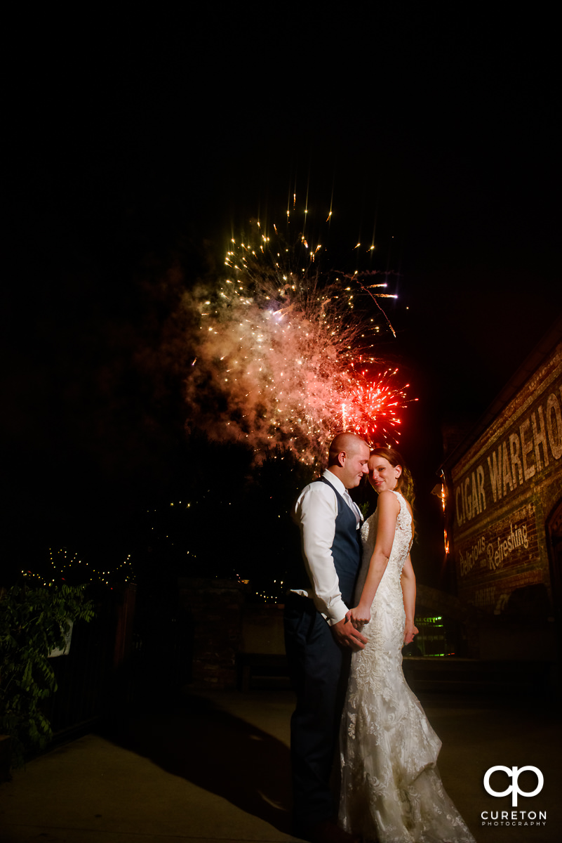 Fireworks at the Old Cigar Warehouse on your wedding day.