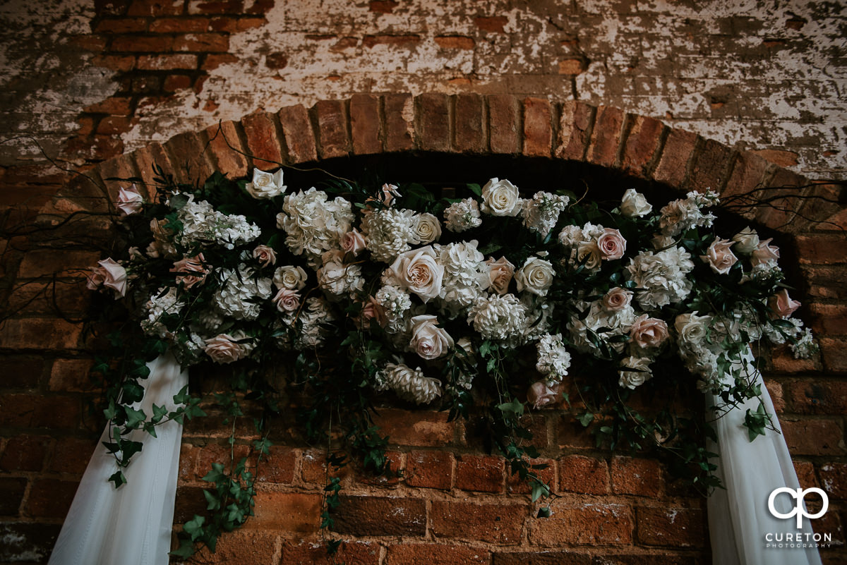 Beautiful wedding florals.
