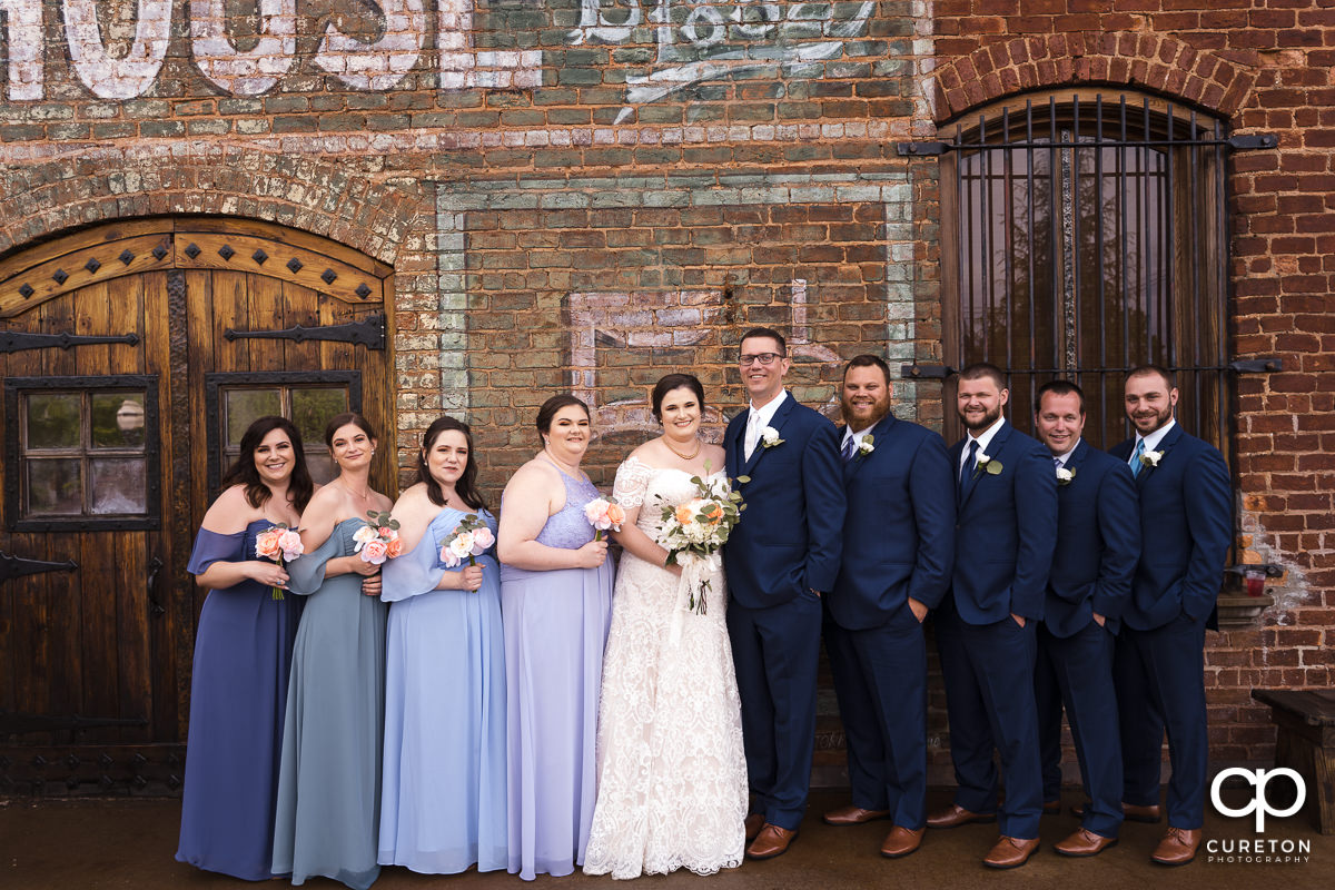 Bridal party on the deck of The Old Cigar Warehouse.