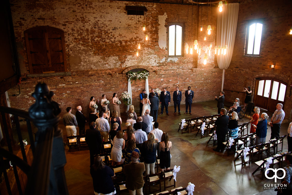 Intimate wedding at the Old Cigar Warehouse.