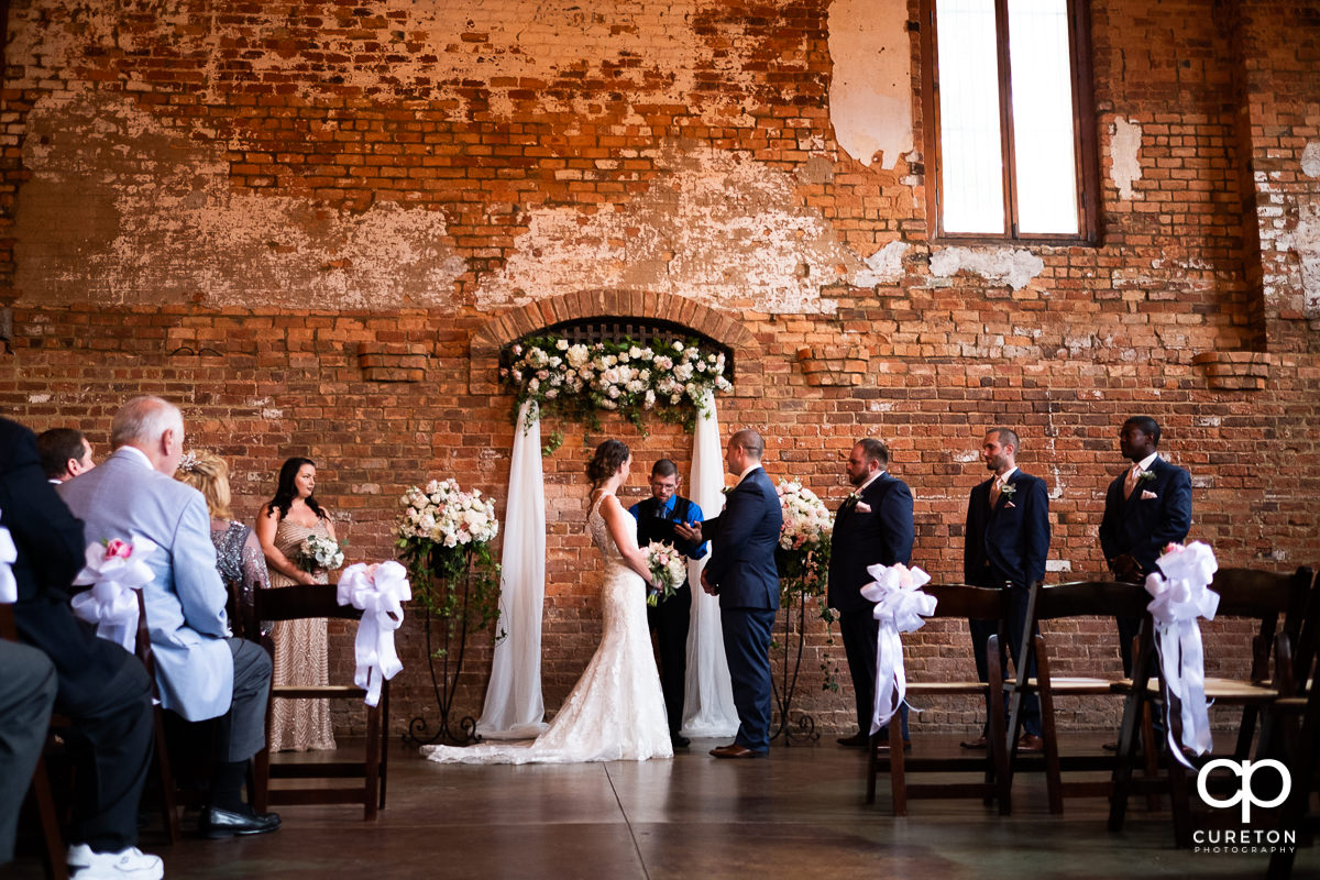 Old Cigar Warehouse intimate wedding ceremony.